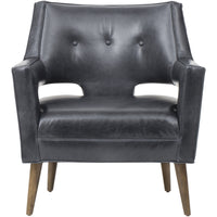 Hunter Leather Chair - Modern Furniture - Accent Chairs - High Fashion Home