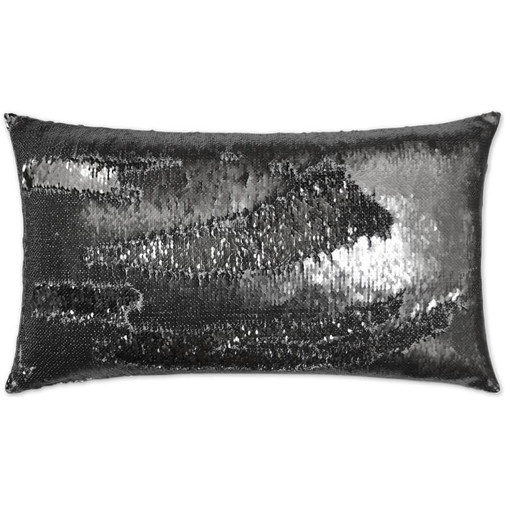 Hylee Lumbar Pillow, Pewter - Accessories - High Fashion Home