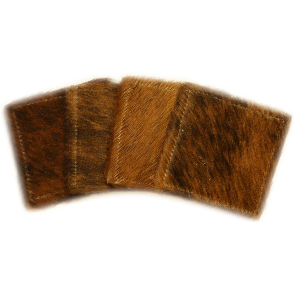 Cowhide Coasters Natural, Set of 4 - Accessories - Kitchen & Dining - Accessories