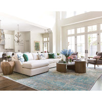 Ian Sectional, Crevere Cream - Modern Furniture - Sectionals - High Fashion Home