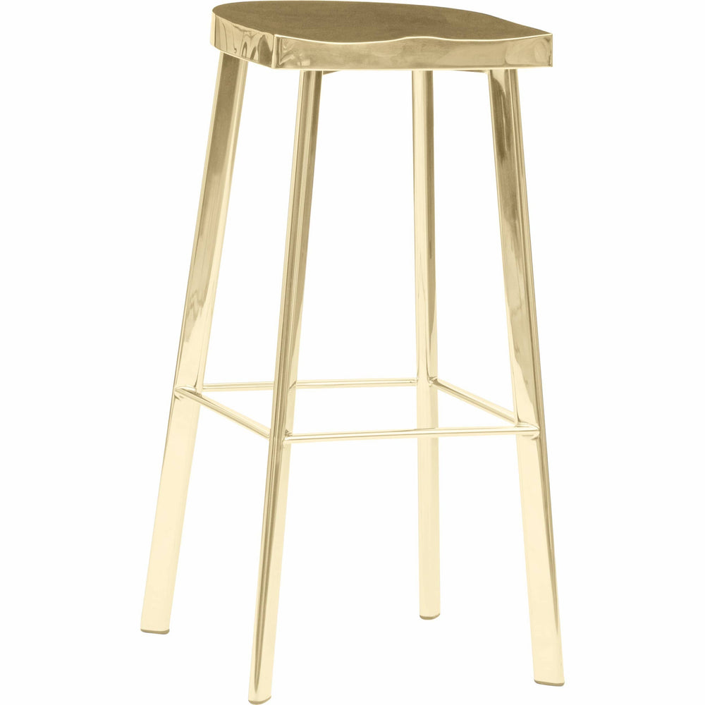 Icon Bar Stool, Gold - Furniture - Dining - High Fashion Home