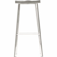 Icon Bar Stool, Polished Steel - Furniture - Dining - High Fashion Home