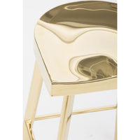 Icon Counter Stool, Gold - Furniture - Dining - High Fashion Home