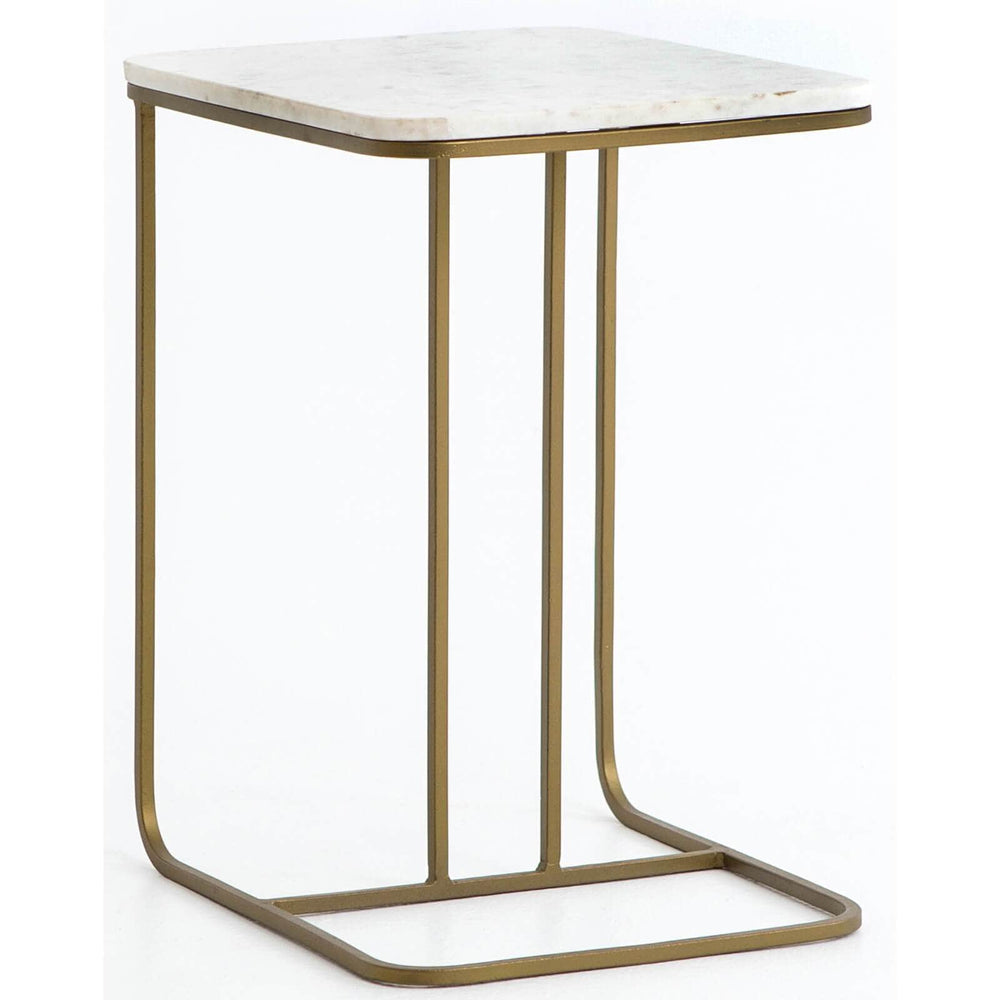 Adalley C Table, White Marble - Furniture - Accent Tables - End Tables