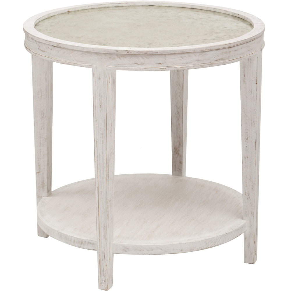 Imperial Side Table, White - Furniture - Accent Tables - End Tables