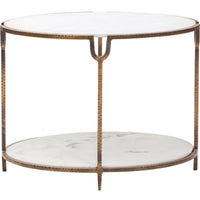 Iron And Oval Round Table - Furniture - Accent Tables - End Tables