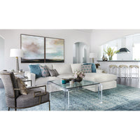 Jenna Slipcover Sectional, Dyno White - Modern Furniture - Sectionals - High Fashion Home