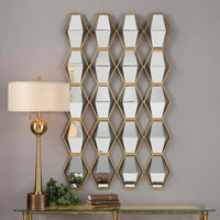 Jillian Mirrored Wall Decor - Accessories - High Fashion Home