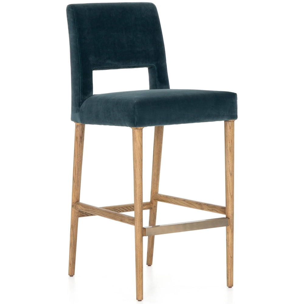 Joseph Bar Stool, Bella Jasper - Furniture - Dining - High Fashion Home