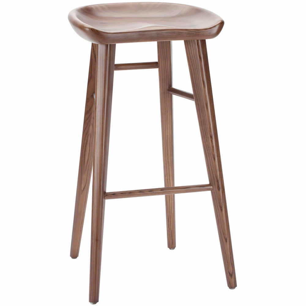 Kami Counter Stool, Walnut - Furniture - Dining - High Fashion Home