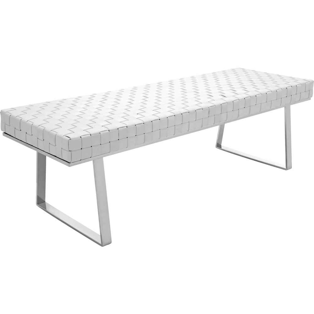 Karlee Bench, White - Furniture - Chaises & Benches