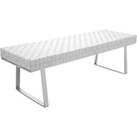 Karlee Bench, White - Furniture - Accent Tables - High Fashion Home