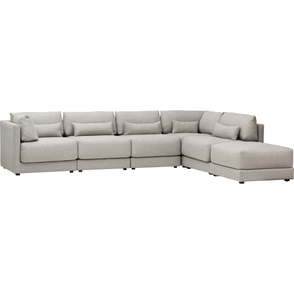 Keland Sectional, Pewter - Modern Furniture - Sectionals - High Fashion Home