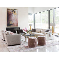 Darcy Ottoman, Lindon Blush - Furniture - Chairs - High Fashion Home
