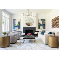 Wilson Mongolian Ottoman, Walnut - Furniture - Accent Tables - Precedent - - - - High Fashion Home