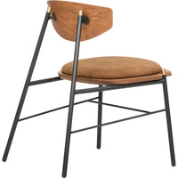 Kink Leather Dining Chair, Umber - Furniture - Dining - Chairs & Benches