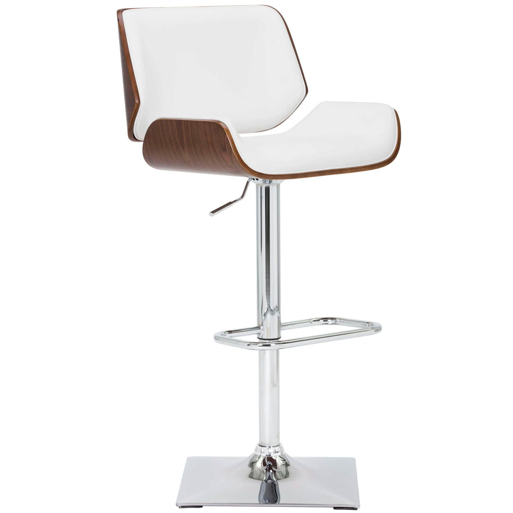 Kinley Adjustable Bar Stool, Snow - Furniture - Dining - Dining Stools