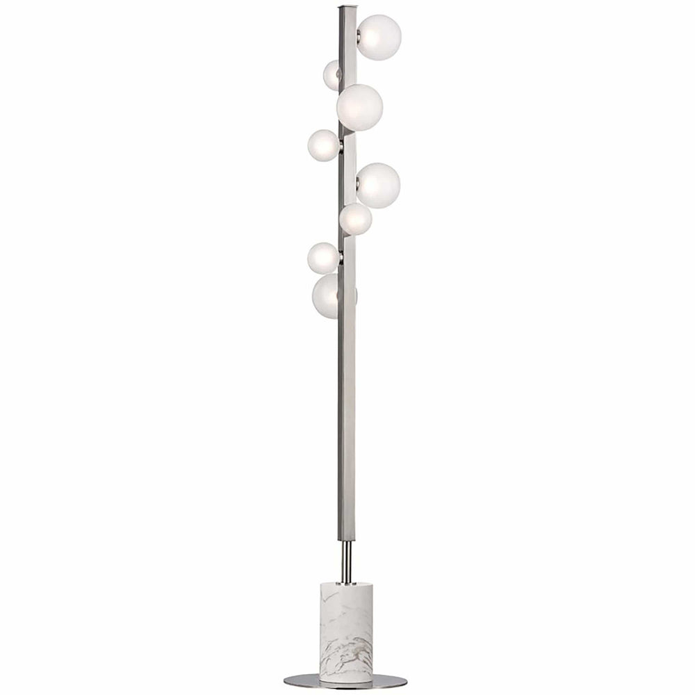 Mini Hinsdale 8 Light Floor Lamp, Polished Nickel - Lighting - High Fashion Home