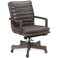 Langston Leather Office Chair, Buckaroo Ranch - Furniture - Chairs - High Fashion Home