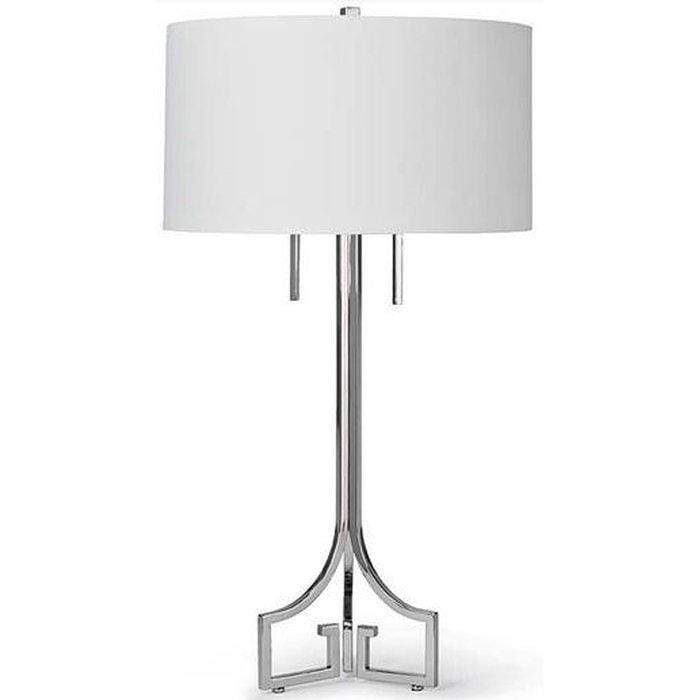Le Chic Polished Nickel Table Lamp - Default - High Fashion Home