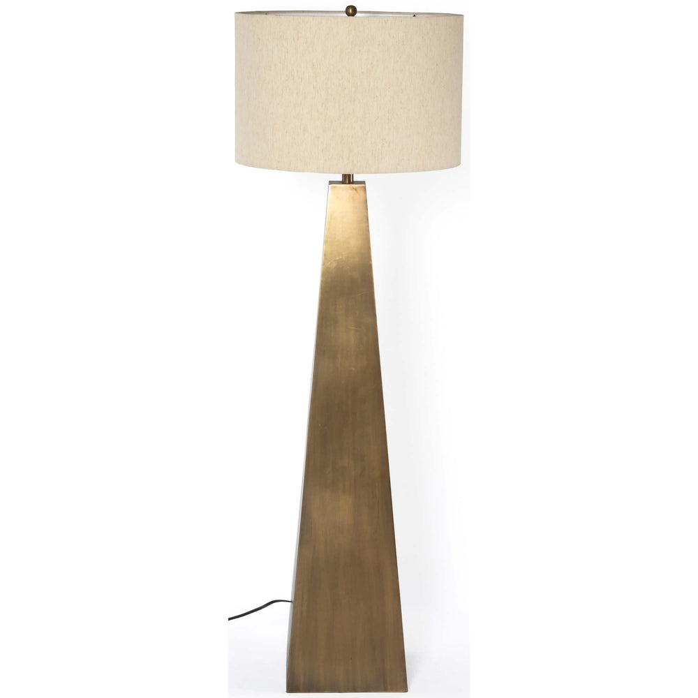 Leander Floor Lamp, Brass - Lighting - High Fashion Home