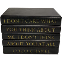 Leather Stack of Books, I Don't Care - Gifts - High Fashion Home