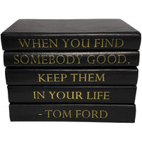 Leather Stack of Books, When You Find Somebody Good - Accessories - High Fashion Home