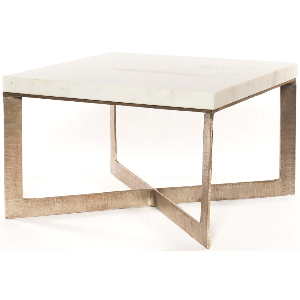 Lennie Bunching Table, Brushed Nickel - Furniture - Accent Tables - High Fashion Home
