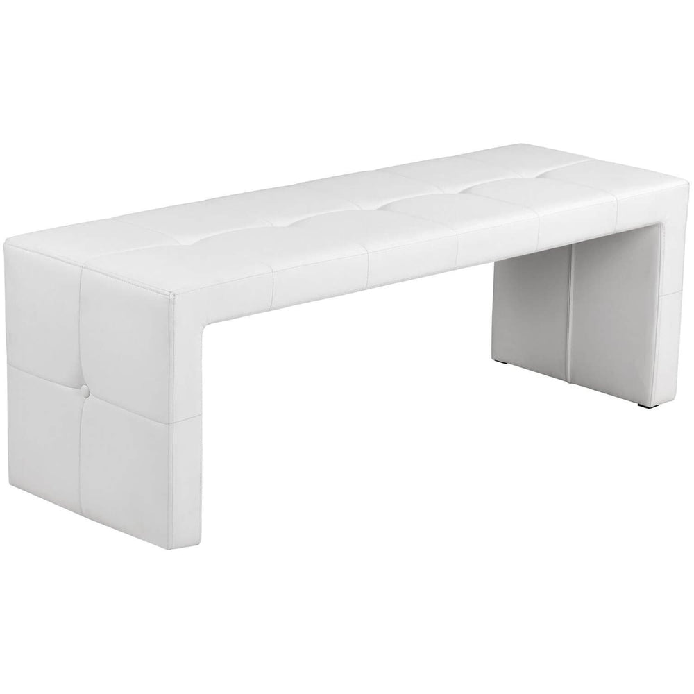 Lester Bench, White - Furniture - Sunpan