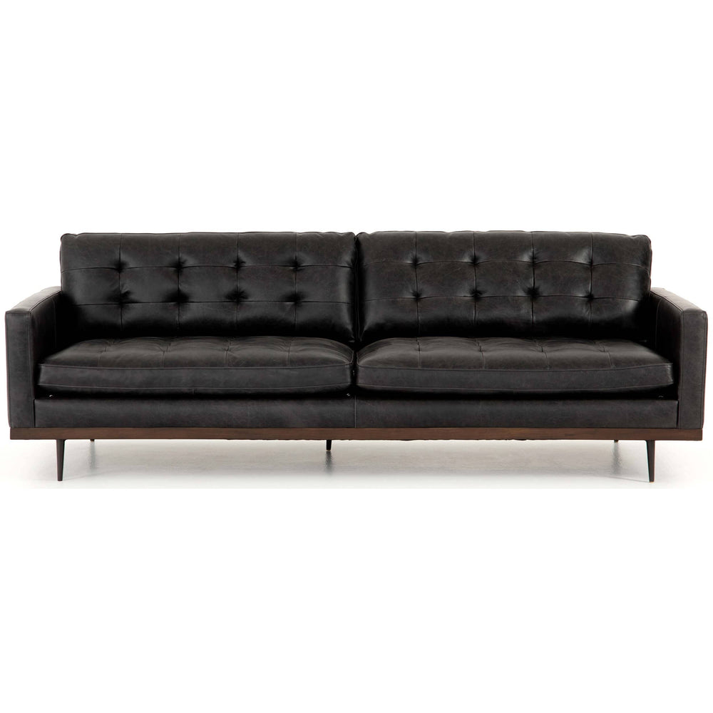 Lexi Leather Sofa, Sonoma Black - Modern Furniture - Sofas - High Fashion Home