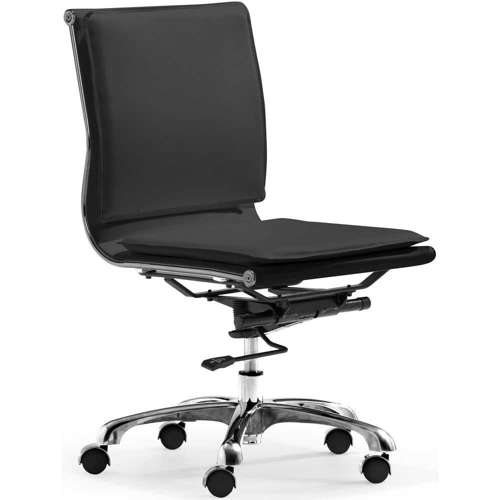 Lider Plus Armless Office Chair, Black - Furniture - Office - High Fashion Home