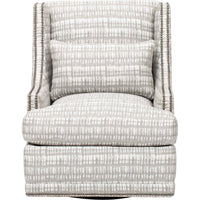 Lindsay Swivel Chair, Grey - Modern Furniture - Accent Chairs - High Fashion Home