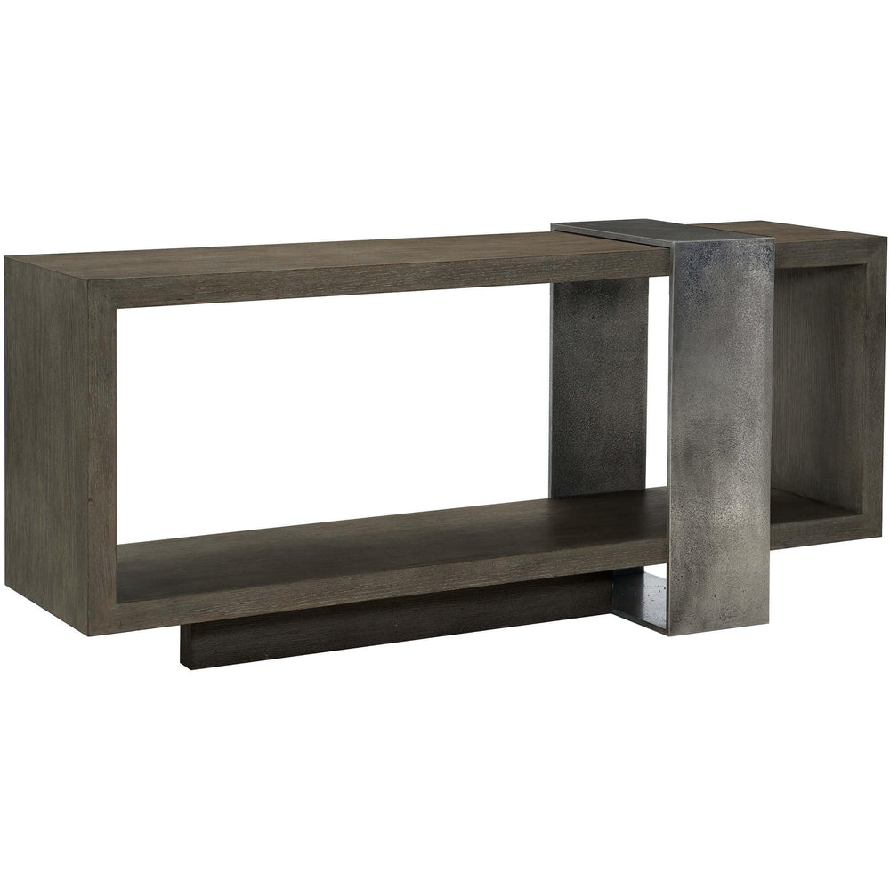 Linea Console Table, Cerused Charcoal