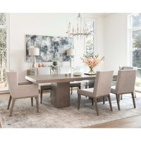 Linea Rectangular Dining Table, Cerused Greige