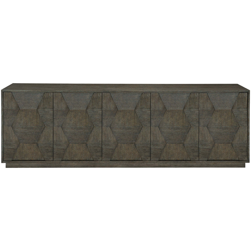 Linea Entertainment Cabinet, Cerused Charcoal - Furniture - Storage - High Fashion Home