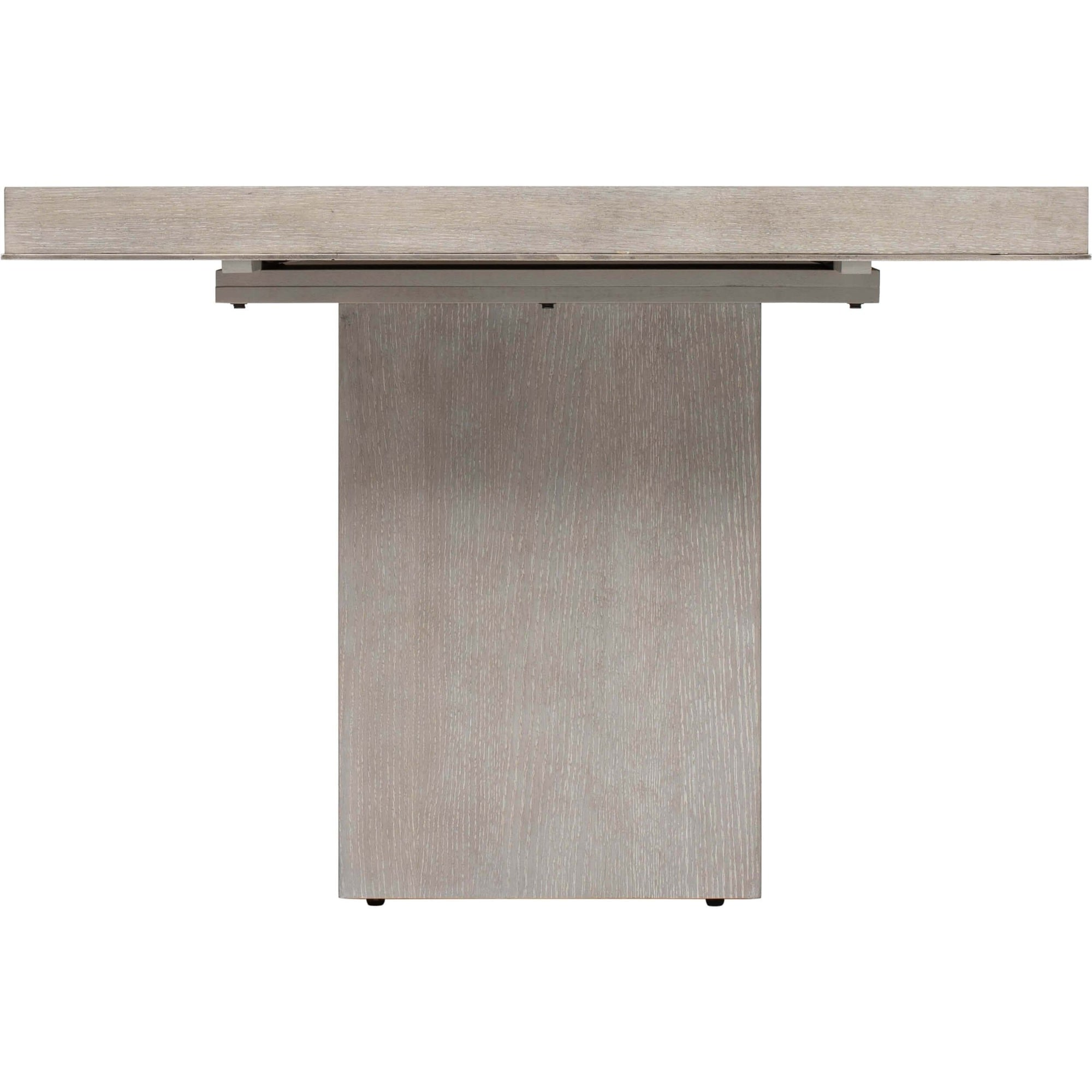 Linea Rectangular Dining Table Cerused Greige High