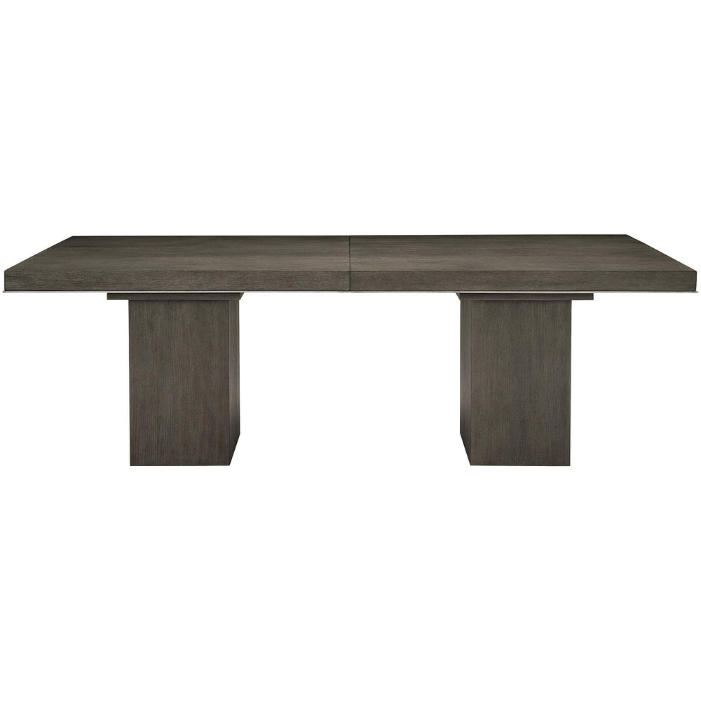 Linea Rectangular Dining Table, Cerused Charcoal