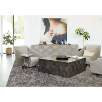 Linea Square Cocktail Table - Furniture - Accent Tables - High Fashion Home