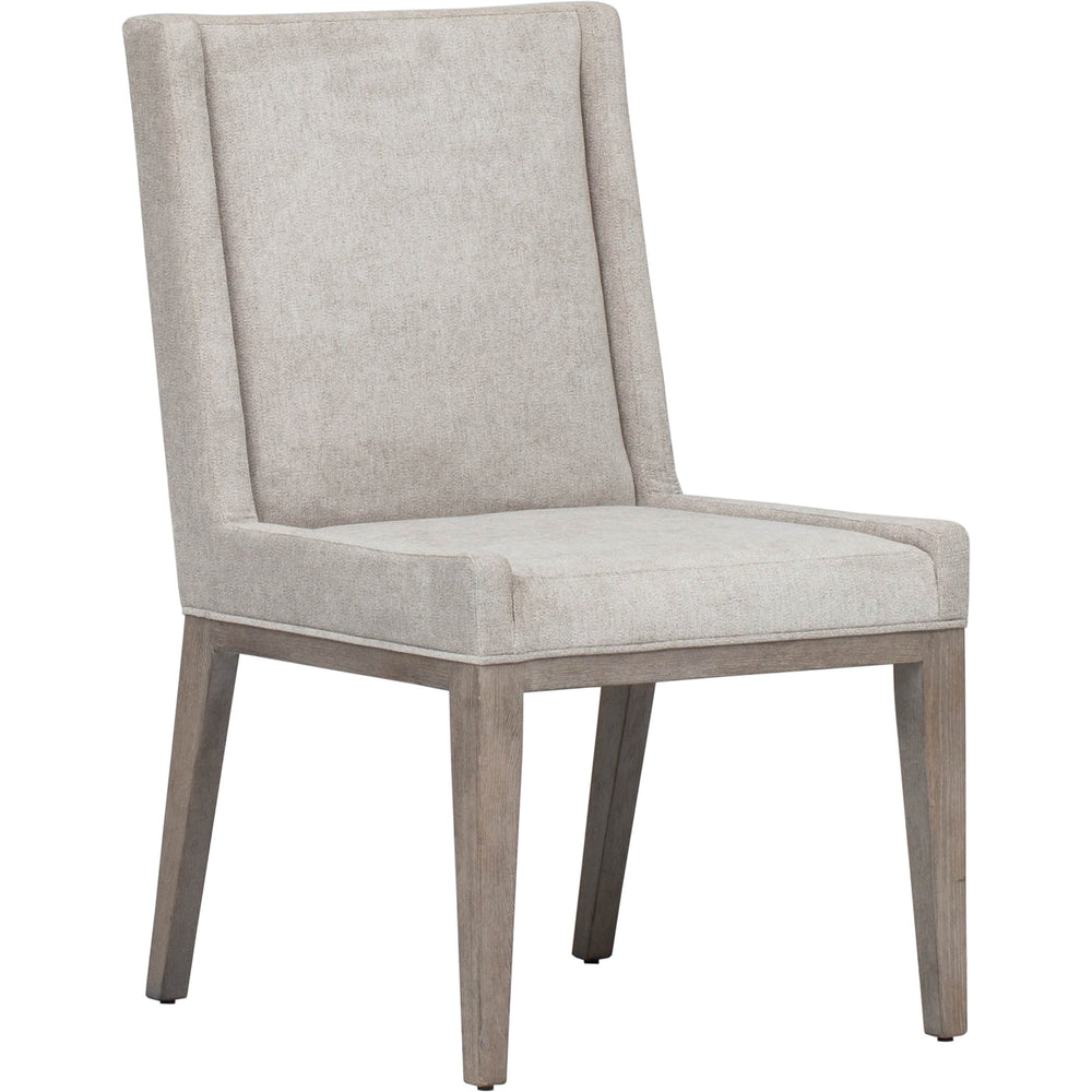 Linea Upholstered Side Chair, Greige - Furniture - Chairs - High Fashion Home