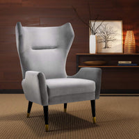 Logan Chair, Grey - Furniture - Chairs - High Fashion Home