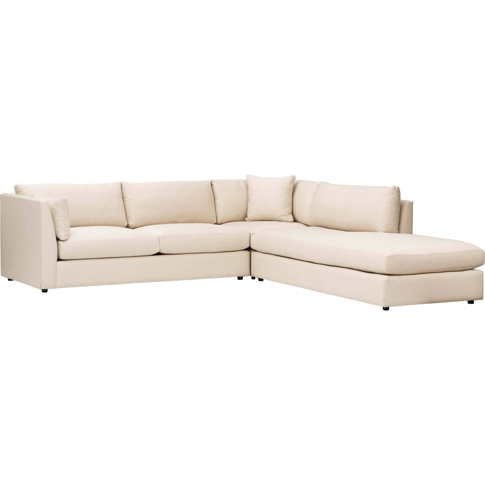 Logan Sectional, Raffia Dusk - Modern Furniture - Sectionals - High Fashion Home