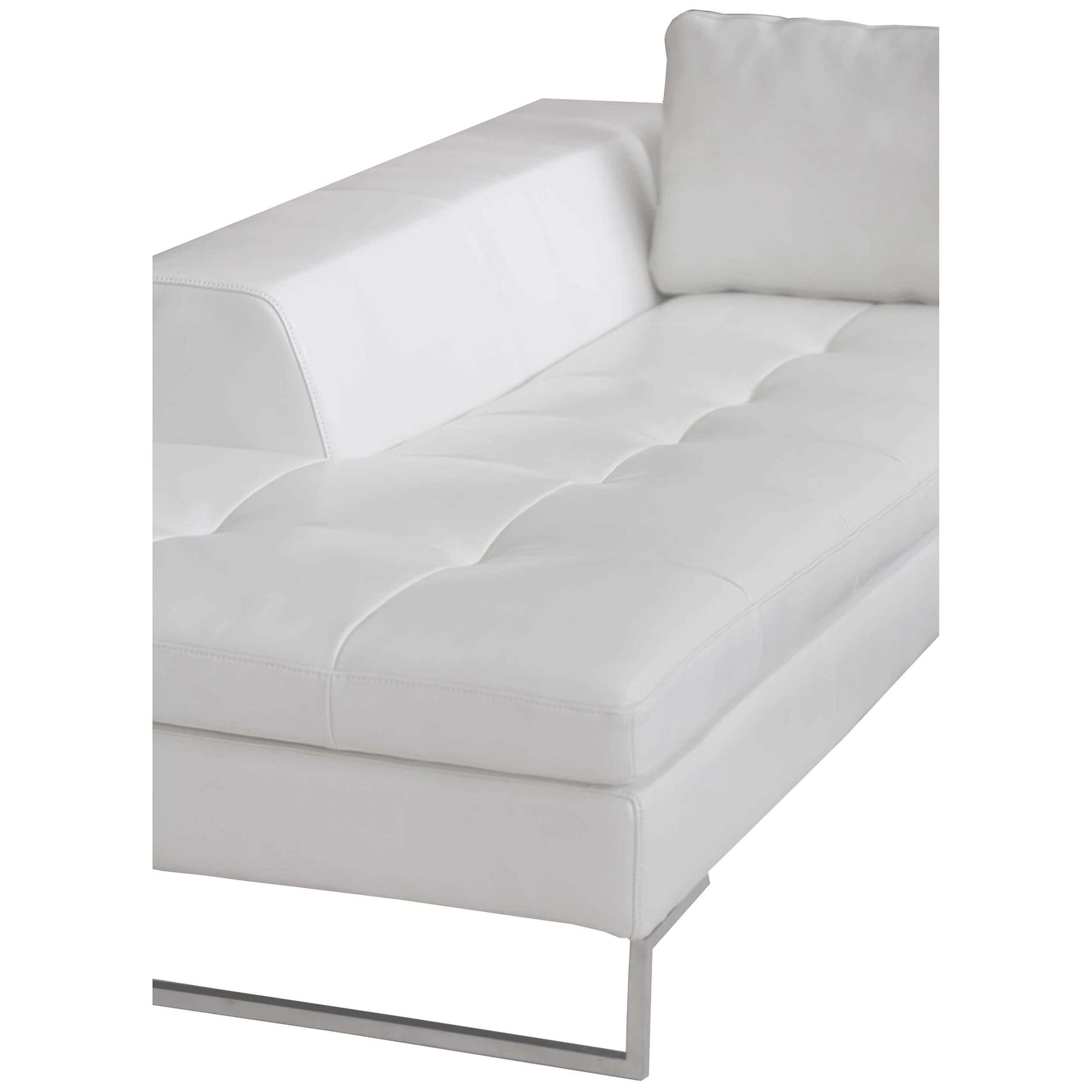 Stupendous London Laf Sectional Shiny White High Fashion Home Ncnpc Chair Design For Home Ncnpcorg