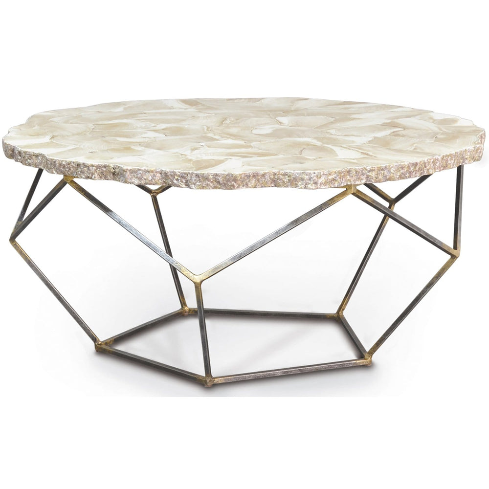 Loren Fossilized Clam Coffee Table - Modern Furniture - Coffee Tables - High Fashion Home