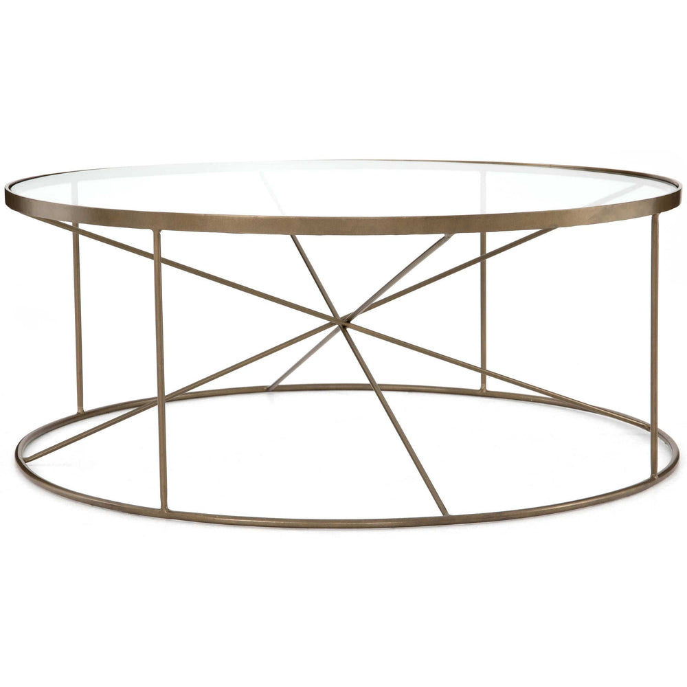Lucas Round Coffee Table - Modern Furniture - Coffee Tables - High Fashion Home