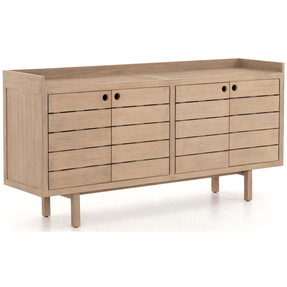 Lula Outdoor Sideboard, Washed Brown