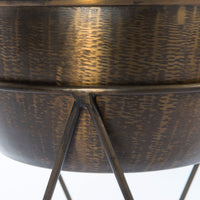 Luna Planter, Weathered Brass