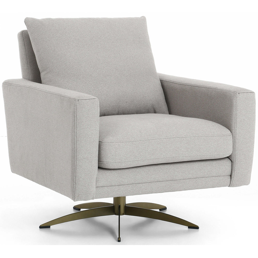 Lyndon Swivel Chair, Derby Silver - Furniture - Chairs - Fabric