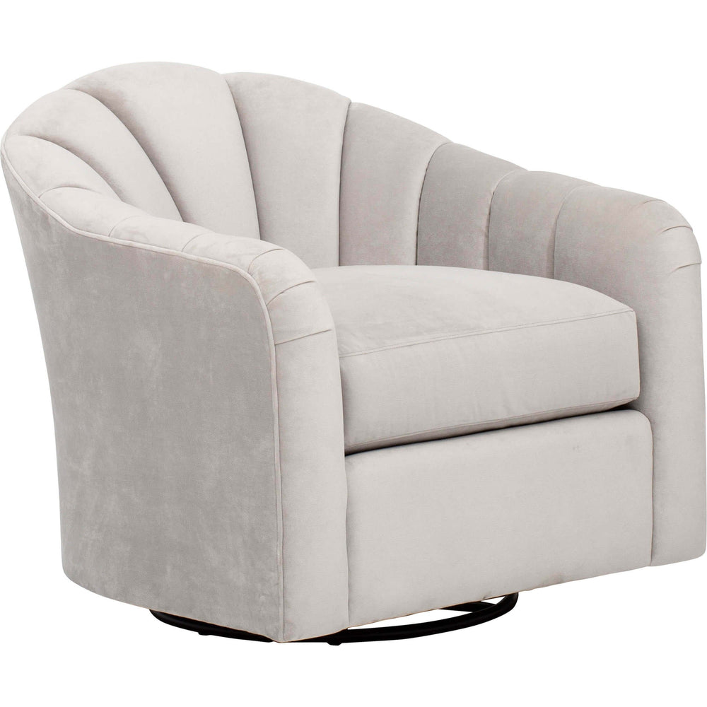 Madge Swivel Glider, View Gray - Furniture - Chairs - Fabric