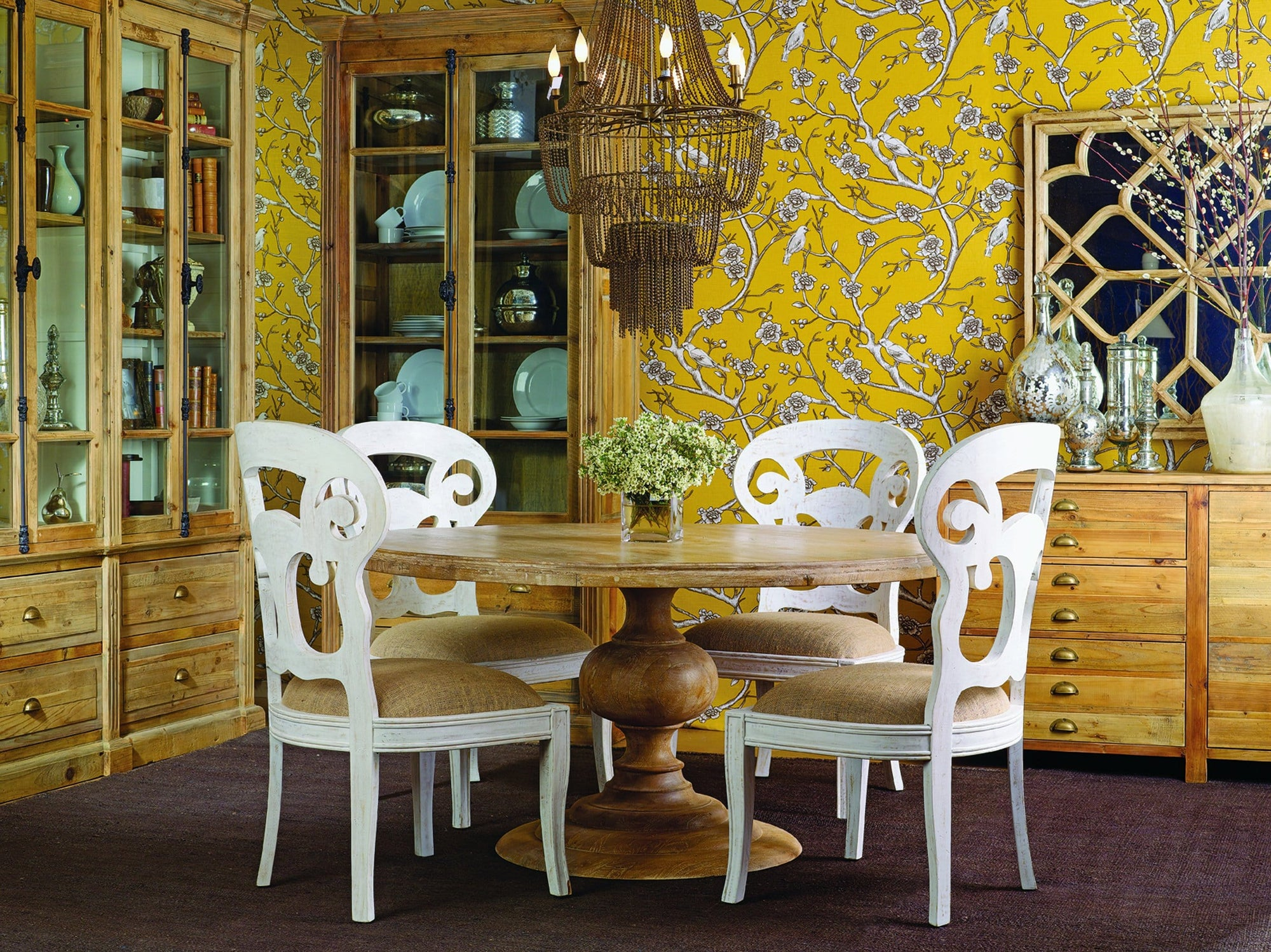 Magnolia Round Dining Table High Fashion Home