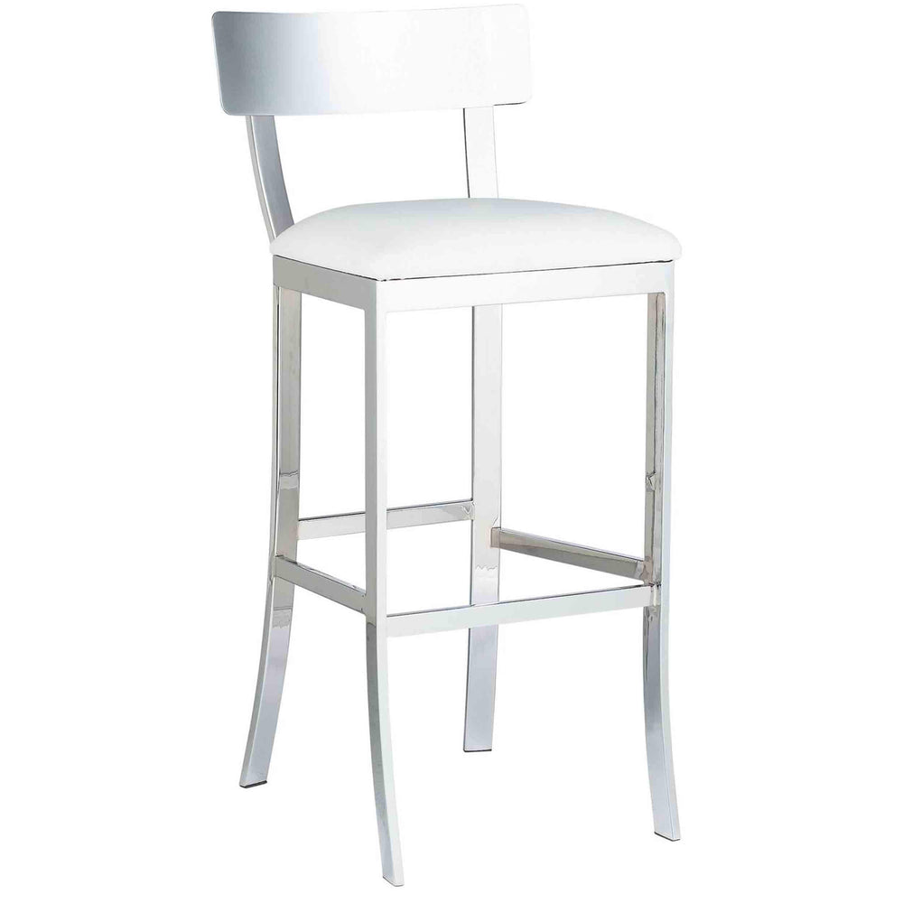 Maiden Bar Stool, White - Furniture - Dining - High Fashion Home